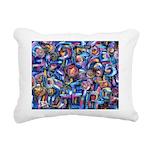 Star Swirl Rectangular Canvas Pillow