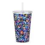 Star Swirl Acrylic Double-wall Tumbler