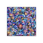 Star Swirl Square Sticker 3