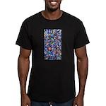 Star Swirl Men's Fitted T-Shirt (dark)
