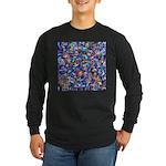 Star Swirl Long Sleeve Dark T-Shirt