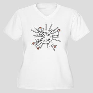 AlphaHalftone Women's Plus Size V-Neck T-Shirt