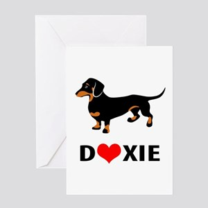 I Love Doxies Greeting Cards