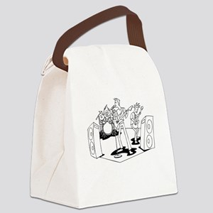 Rock Band Canvas Lunch Bag