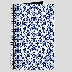 Blue Casbah Damask Journal