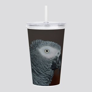 African Grey Parrot Acrylic Double-wall Tumbler