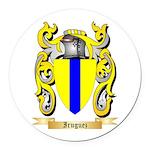 Iruguez Round Car Magnet