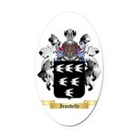 Irondelle Oval Car Magnet