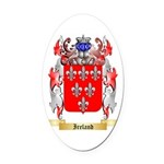 Ireland Oval Car Magnet