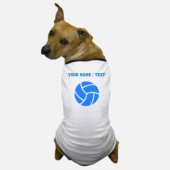 Custom Blue Volleyball Dog T-Shirt