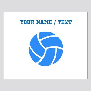 Custom Blue Volleyball Posters