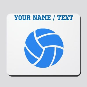 Custom Blue Volleyball Mousepad