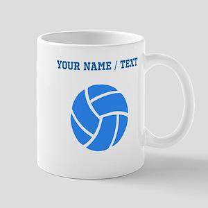 Custom Blue Volleyball Mugs