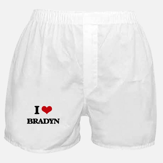 I Love Bradyn Boxer Shorts