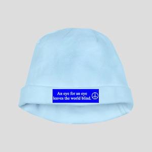 eye_for_eye_blue_on_white baby hat