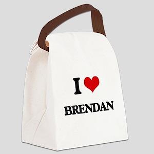 I Love Brendan Canvas Lunch Bag