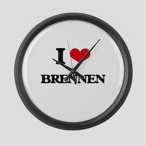 I Love Brennen Large Wall Clock