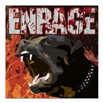 "Enrage Gateway Square Car Magnet 3"" X 3"""