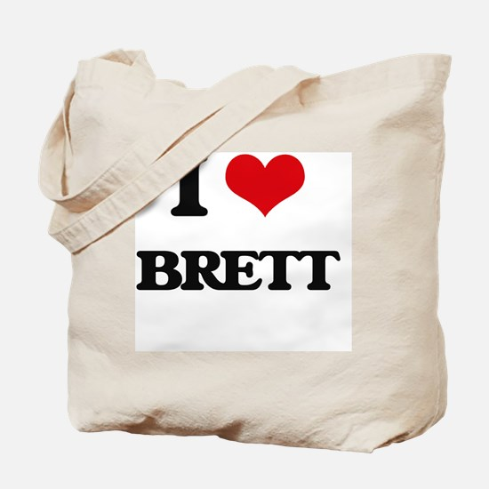 Cute I heart brett Tote Bag