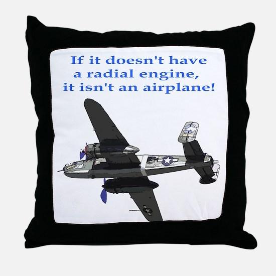 Radial B-25 Throw Pillow