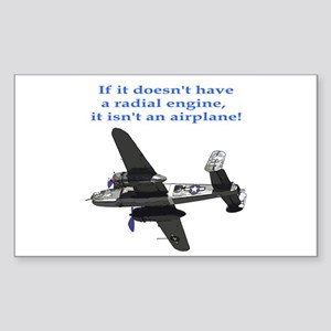 Radial B-25 Rectangle Sticker