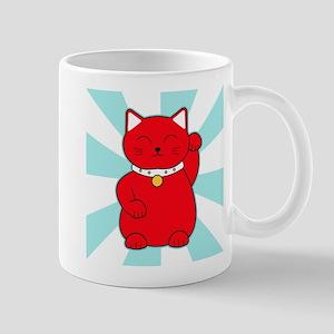 Red Lucky Cat Mug