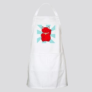 Red Lucky Cat Apron