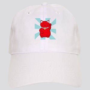 Red Lucky Cat Cap