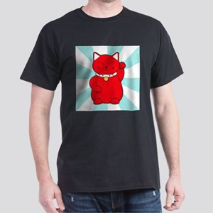 Red Lucky Cat Dark T-Shirt