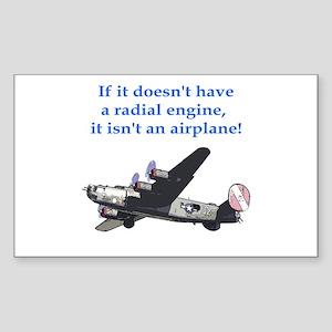 Radial B-24 Rectangle Sticker