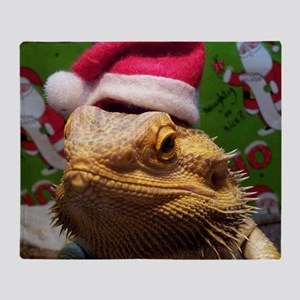 Beardie Santa Hat Throw Blanket