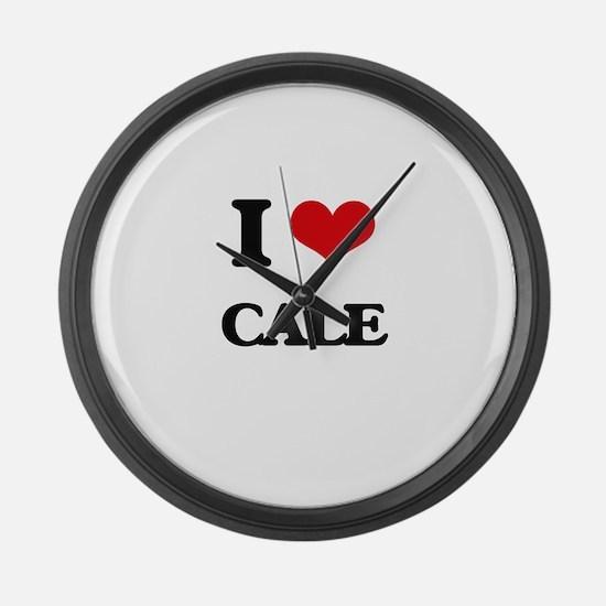 I Love Cale Large Wall Clock