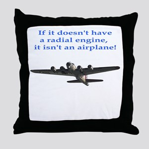 Radial B-17 Throw Pillow