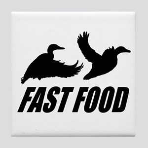 Fast food waterfowl Tile Coaster