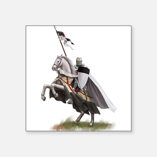 "Cute Medieval knight Square Sticker 3"" x 3"""