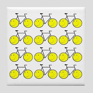 Happy Bikes Tile Coaster