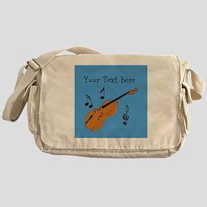 Customizable Violin Design Messenger Bag