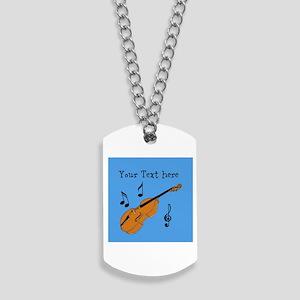 Customizable Violin Design Dog Tags