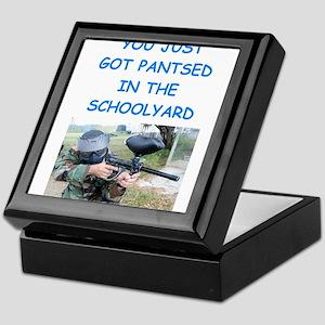 paintball joke Keepsake Box