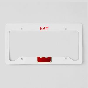 pinochle joke License Plate Holder