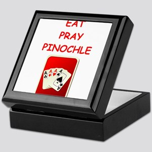 pinochle joke Keepsake Box