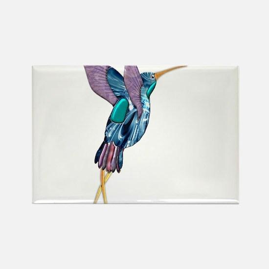 Iridescent Scissortail Hummingbird Magnets