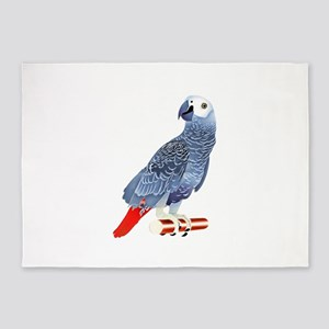 African Grey Parrot 5'x7'Area Rug