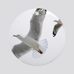 3 Gulls in Flight copy Ornament (Round)