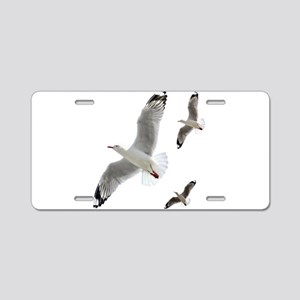 3 Gulls in Flight copy Aluminum License Plate