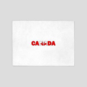 Canada 001 5'x7'Area Rug