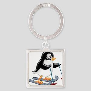 Penguin on Skis Keychains