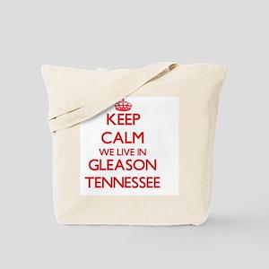 Keep calm we live in Gleason Tennessee Tote Bag