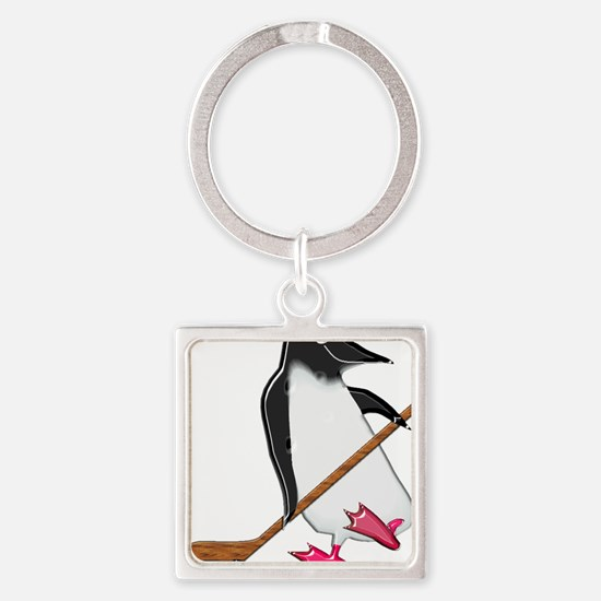 Penguin Hockey Player Keychains