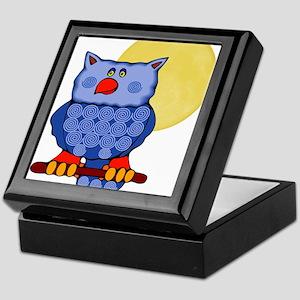 Once in a Blue Moon Owl Keepsake Box
